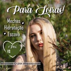 Cadê as loiras de plantão? Aproveitem esse promoção e venham ficar mais loiras e mais lindas! #cabelos #loiras #ahazou #ahazoucabelos #blondehair #promocao #cabeleireiro