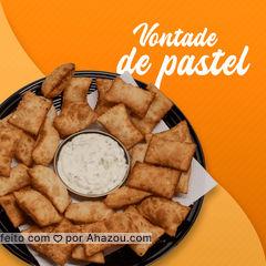 Então aproveita e vem experimentar nossos novos sabores desenvolvidos especialmente para você ?! #foodlovers #ahazoutaste #instafood #pastelaria #pastelrecheado #amopastel #pastel #ahazoutaste