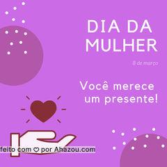 No dia da mulher, vocês ganham um presente especial ? Agende seu horário! #diadamulher #ahazoubeleza #presente #mulheres