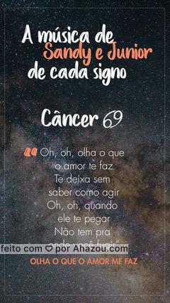 E aí, cancerianos(as) vocês concordam? ? #astrologia #ahazou #sandyejunior