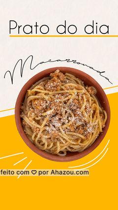 Tá com vontade daquela macarronada quentinha com um molho a bolonhesa com bastante sabor? então vem provar ou peça por delivery nosso prato do dia ????  #macarronada #macarrão #comida #food #ahazoutaste #sabor #saboroso #tempero #molho #bolonhesa