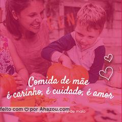 Um dos maiores carinhos que uma mãe pode ter com seu filho: cozinhar! Um feliz dia das mães para vocês. ? #diadasmaes #ahazoutaste #gastronomia #mesdasmaes #comida