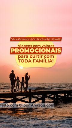 Chegou a hora de você tirar alguns dias para curtir com toda família! Aproveite esse desconto especial e marque já sua viagem. ?✈️ #Turismo #Familia #AhazouTravel #Viagem