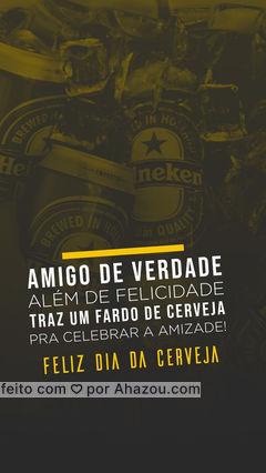 Hoje é dia de celebrar, com uma cerveja gelada, todos os momentos bons! Feliz Dia da Cerveja! ??#ahazoutaste  #gastronomy #beer #cerveja #diadacerveja