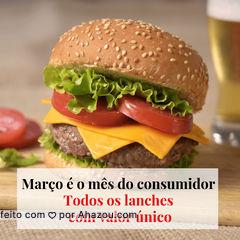 Mês do consumidor é assim: todos os lanches por um preço único. Vai ficar de fora dessa? ? #hamburguer #março #ahazou #consumidor  #promocao #todosporumunicopreco