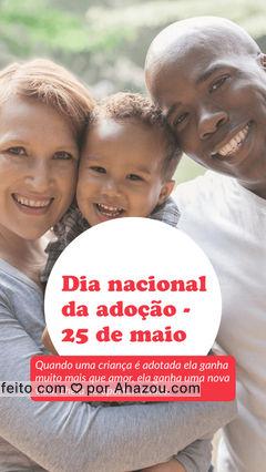 Amor não se escolhe! ???????  #ahazou #adocao #amor #adotaréamor #criancas #25demaio #diadaadocao