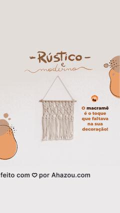 Garanta peças de macramê lindas para a decoração da sua casa. Entre em contato e faça a sua encomenda! #costureira #tricot #reparos #AhazouFashion #encomendas #costuraereparos #feitoamao #macrame #AhazouFashion #AhazouFashion