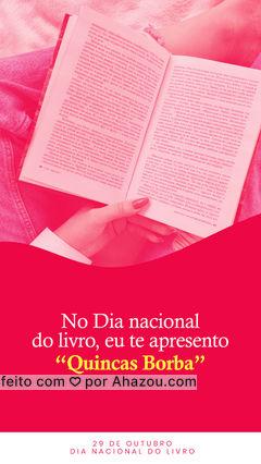 Junto com Dom Casmurro e Memórias Póstumas de Bras Cubas, Quincas Borba é um dos livros mais famosos de Machado de Assis. E no dia Nacional do livro, essa é a história que você quer ler. #AhazouEdu #Dianacionaldolivro #Quincasborba #Machadodeassis #literaturabrasileira #livros