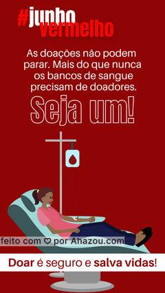 A sua doação é feita rapidinha e você salva até 4 vidas. Seja um doador!  Para doar você pode fazer o seu agendamento online e seguir os requisitos:  ❣️Estar saudável sem sintomas de gripes, resfriados ou com tosse nos últimos 30 dias  ❣️ Pesar mais de 50kg  ❣️Ter entre 16 e 59 anos – Idosos devem aguardar o fim do isolamento social  ❣️Não ter tido hepatite após os 11 anos  #AhazouSaude #junhovermelho #doador #sangue #doacaodesangue #doadordesangue #salvevidas
