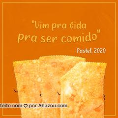 São sabias palavras, senhor Pastel. E com essa citação, deixamos você refletindo e com um pouco de água na boca. ? #ahazoutaste  #pastel #pastelaria #pastelrecheado #amopastel