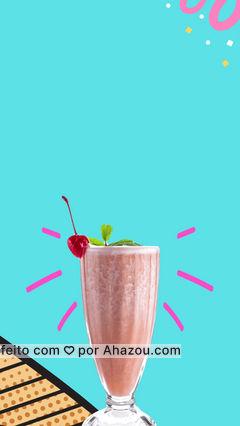Aproveite mais o dia de sol passando aqui e garantindo o seu milkshake na promoção, vem correndo antes que acabe 🍦 #ahazoutaste #milkshake #promoção #sabores #sorveteria #sorvete