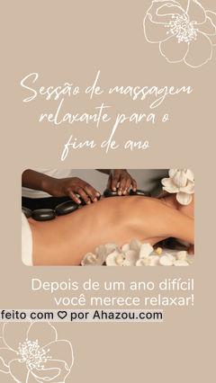 Marque sua sessão de massagem e termine o ano relaxando, você merece! ✨??? #AhazouSaude #fimdeano #relax #massagem #relaxar #ahznoel #massoterapeuta #massoterapia #AhazouSaude