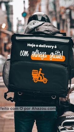 Você não vai resistir a entrega gratuita, né!? Peça agora mesmo! #ahazoutaste #gastronomy #gastronomia #culinaria #entregrátis #deliverygrátis #delivery #entrega