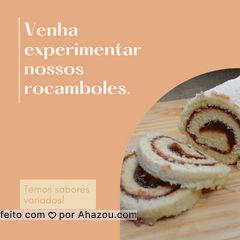 Temos o rocambole mais delicioso da região! Com sabores variados e a massa fofinha que tanto amamos, venha experimentar! #ahazoutaste #rocambole # #bolo  #doces  #confeitariaartesanal  #confeitaria