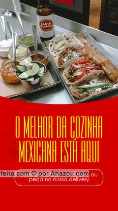 Se você gosta de uma boa comida mexicana, você está no lugar certo. Faça seu pedido pelo delivery ou venha nos conhecer. #ahazoutaste #comidamexicana  #cozinhamexicana  #vivamexico  #texmex  #nachos