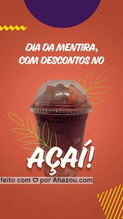 O dia é da mentira, mas não negue o seu desejo pelo nosso maravilho açaí! Venha tomar sua dose diária, e refresque-se! #ahazoutaste #acai #sorveteria #açaí #icecream #açaíteria #gelados #ahazoutaste