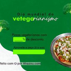 Comemore o seu dia com mais sabor e promoção! Solicite nosso cardápio e confira as promoções para hoje. #ahazoutaste #pizzaria  #pizza  #pizzalife  #pizzalovers