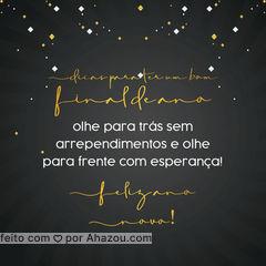 O novo ano é você quem faz! ? #felizanonovo #anonovo #ahznoel #AhazouEdu #educação #aulaparticular #AhazouEdu
