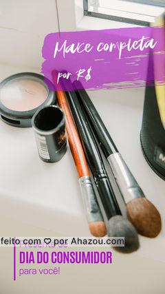 Aproveite o Dia do Consumidor para ficar ainda mais bonita! ? Entre em contato e agende seu horário ? (inserir contato). #mua #makeup #maquiadora #AhazouBeauty #diadoconsumidor #maquiagem