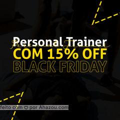 Nesse mês você ganha 15% de desconto para ter acompanhamento com um profissional.  Para maiores informações entre em contato!  #AhazouSaude  #personal #personaltrainer #boratreinar #nopainnogain #blackfriday #semanablack #novembroblack
