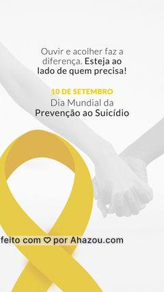 Esteja atento aos sinais, ofereça ajuda e apoio para quem precisa! #prenvençãoaosuicidio #ahazou #setembroamarelo #motivacional