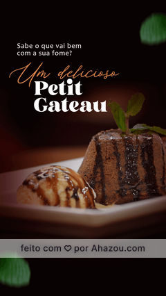 Complemente seu lanche com um delicioso Petit Gateau de sobremesa! 😋 #petitgateau #sobremesa #ahazoutaste  #burgerlovers  #burger  #hamburgueria