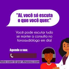 Não deixe sua audição prejudicada, se consulte periodicamente com um fonoaudiólogo! ?  #fonoaudiologo #fono #AhazouSaude  #fonoaudiologia #bemestar #viverbem #fono