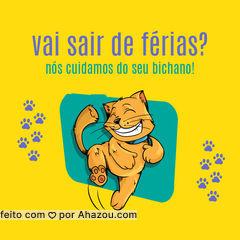 Saia de férias sem se preocupar!  Nós cuidamos do seu gatinho com toda atenção que ele merece. #petsitter #catsitter #ahazou #gato #ferias