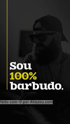 E nem 1% a menos. Porque orgulho, é ser barbudo. E você, também tem orgulho disso? #AhazouBeauty #orgulho #barba #barbeiro