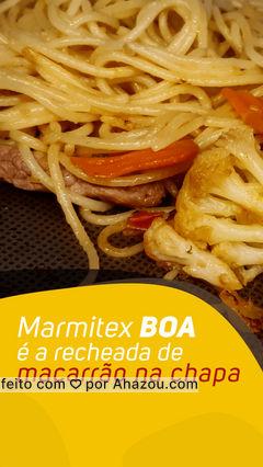 Marmitex gostosa é aquela que vem junto todo o carinho no preparo e chega quentinha como se tivesse saído da panela, é bom de mais né? Vem pedir a sua pelo nosso delivery ?️ #ahazoutaste  #massas #marmitex #marmitando #marmitas #restaurante #macarrão #macarrãonachapa
