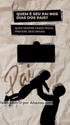 Conta pra gente como é o dia dos Pais na sua casa! #ahazou  #frasesmotivacionais #motivacionais #motivacional #Diadospais