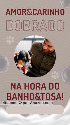 Deixe seu pet nas mãos de quem cuida com amor e carinho! ??  #banhoetosa #instapet #petshop #AhazouPet  #tosahigiênica #tosahigiênica