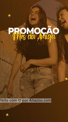 Que neste mês você e sua amiga possam celebrar a amizade de vocês e, no que depender da gente, vocês ficarão ainda mais belas com esta promoção.?? . ? Para mais informações e agendamentos: (inserir contato) #MêsdaAmiga #BelezaeEstetica #Promoção #Promo #AhazouBeauty
