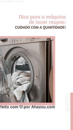 Leia o manual de instruções antes de começar a usar a sua máquina de lavar. Isso porque lá estão os principais cuidados que você deve tomar no dia a dia com a sua máquina de lavar, sendo um deles a quantidade de sabão e detergente que você deve usar no ciclo de lavagem. Muitas vezes, é o exagero nessa quantidade que pode causar alguns problemas na máquina, incluindo o seu travamento. Por isso, fique atento! 😉 #máquinadelavar #dicas #eletrodomésticos #AhazouTec  #eletronicoseeletrodomesticos  #consertodeeletronicos   #eletrodomesticos  #conserto  #assistenciaeletrodomesticos