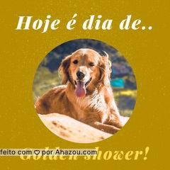 HAHAHAHA, brincadeiras a parte. Hoje é dia de dar um trato no seu pet! Marque um horário com a gente. #promoção #ahazou #petshop
