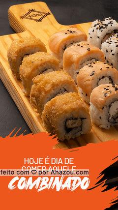 Qual peça do nosso combinado é a sua favorita? Sashimi? Acertei? Então não passe vontade, peça agora!  #ahazoutaste #sushidelivery #comidajaponesa #japanesefood