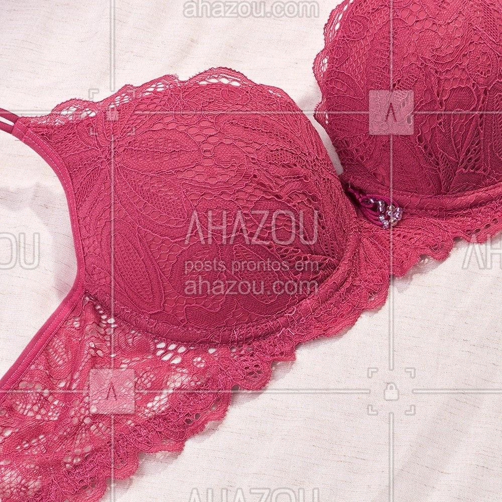 Chamando todas as apaixonadas por rosa para apreciar a beleza desse sutiã. ♥ #ReccoLingerie #ahazourevenda #ahazourecco