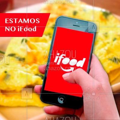 Agora ficou mais fácil para pedir o seu omelete. Chama no IFOOD????  #ahazoutast #omelete #pedido #delivery