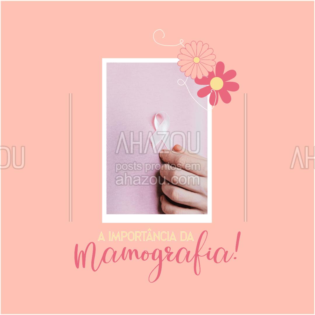 O exame da mamografia é extremamente importante para diagnóstico precoce do câncer de mama, a mamografia é o principal método de rastreamento dessa doença, por isso não deixe de fazer esse exame todos os anos. #AhazouSaude #viverbem #bemestar #qualidadedevida #saude #outubrorosa #AhazouSaude