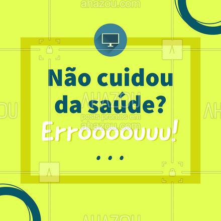 Conserte seu erro marcando um horário, ainda hoje! #saúde #cuidados #AhazouSaude #meme #engraçado #Faustão