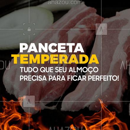 Nossa panceta temperada é muito saborosa, você vai amar nosso tempero especial! Peça já a sua e se encante!   #ahazoutaste #panceta #carnesuina #suinos  #açougue #bbq