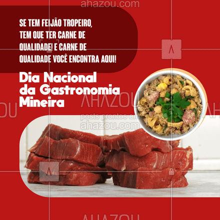 O feijão tropeiro é a opção perfeita para comemorar a comida mineira, não acha? Garanta a carne de qualidade com nossa ajuda! #ahazoutaste #feijãotropeiro #carne #carnedequalidade #dianacionaldagastronomiamineira #comidamineira #açougue #meatlover