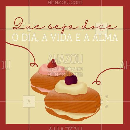 Desejo todo doce do mundo para ti! Até porque, tem coisa melhor para desejar para quem a gente gosta? #ahazoutaste  #bolocaseiro #foodlovers #confeitaria #docinhos #kitfesta