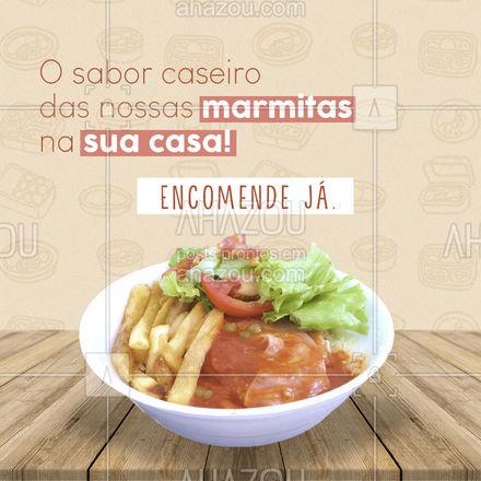 Faça já sua encomenda de marmitas e experimente um estilo de alimentação caseiro e de qualidade!  #ahazoutaste #marmitas #encomendas  #comidadeverdade #comidacaseira #marmitando #marmitas #marmitex