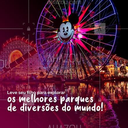 Se o seu filho sonha em ir pra Disney, você está no lugar certo! Aqui nós transformamos seus sonhos em realidade! #PacotesdeViagem #AhazouTravel #Disney