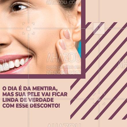Venha aproveitar esse super desconto do Dia da mentira! #bemestar #esteticafacial #limpezadepele #peeling #AhazouBeauty #beleza #saúde #skincare #promoçao #desconto #diadamentira