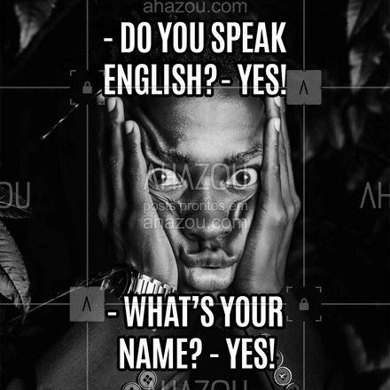 Quem nunca tentou enganar no inglês e acabou passando vergonha? ? #AhazouEdu  #aulasdeingles #aulaemgrupo #aulaparticular #cursinho #idiomas #meme