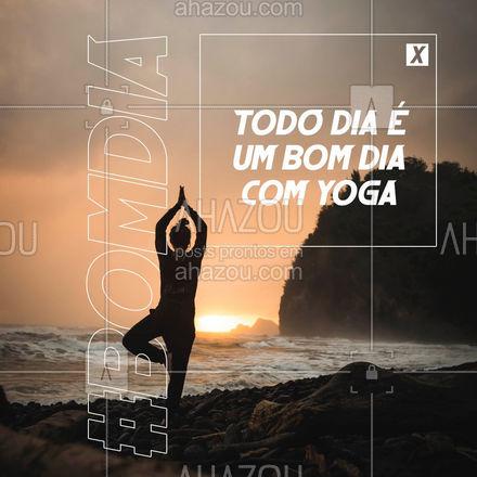 Não tem dia ruim que não possa melhorar depois da prática de yoga! #meditation #yogalife #yoga #AhazouSaude #namaste #yogainspiration #postdefrase #motivacional #bomdia #frasesdebomdia