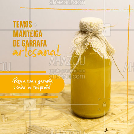 Temperos artesanais são os melhores ? e aqui você encontra nossa saborosa manteiga de garrafa artesanal, feita com ingredientes frescos e de qualidade. Não esqueça de garantir a sua! ? #ahazoutaste  #restaurante #eat #comidacaseira #tempero #manteiga #manteigadegarrafa