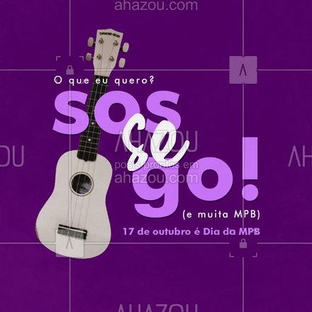 Quem disse foi o grande Tim Maia, a gente só apoia. 😁 Quem aí adora um dia de muito sossego para relaxar ao som de música popular brasileira? 🎶🖤  #DiaMPB #TrechosdeMúsica #Música #MPB #MúsicaPopularBrasileira #AhazouEdu